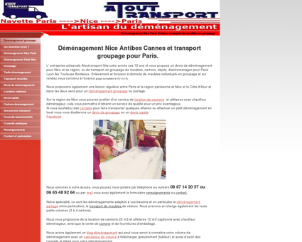 Demenagement transport - Groupage Nice...
