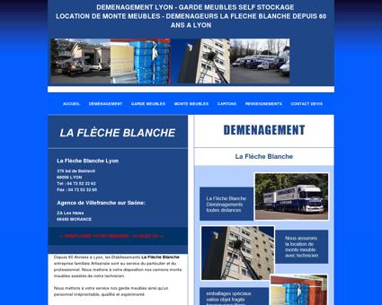 Déménagement La Flèche Blanche à Lyon...