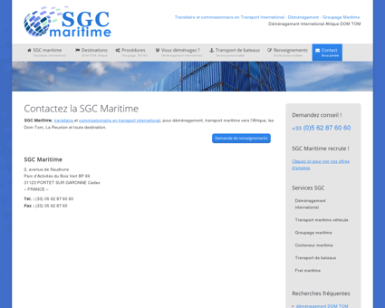 SGC Maritime transitaire maritime international...