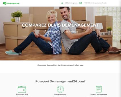 Comparez Devis Déménageur   Demenagement24.com