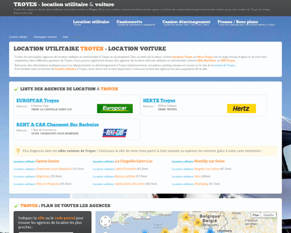 Location utilitaire TROYES - camion...