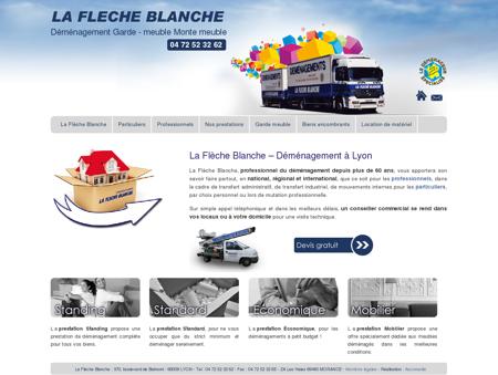 Déménagement Lyon - La Flèche Blanche -...