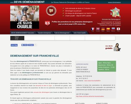 demenagement sur FRANCHEVILLE - Votre...