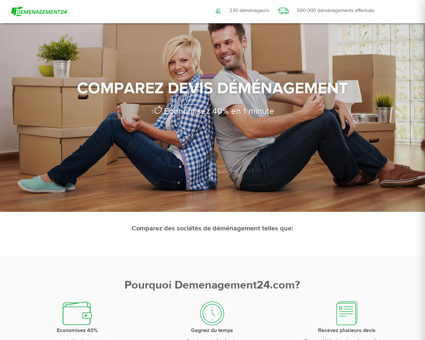 Comparez Devis Déménageur | Demenagement24.com