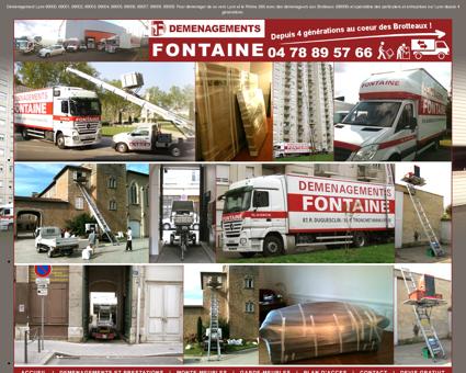 Fontaine société de déménagement à Lyon...