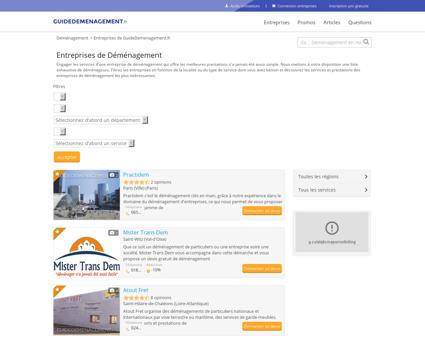Entreprises de GuideDemenagement.fr -...