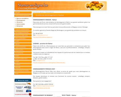 Déménageurs à Namur : sélection d'entreprises...