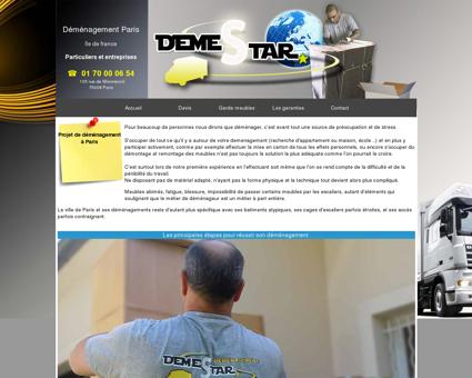 Déménagement Paris - DEMESTAR entreprise...