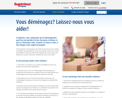 Déménagement - Supérieur Propane -...