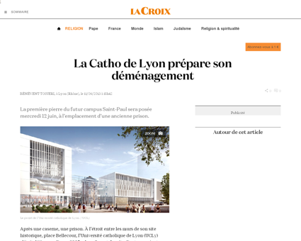 La Catho de Lyon prépare son déménagement ...