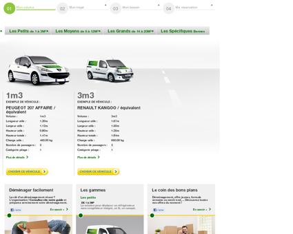 Location d'utilitaire Europcar : 1 à 5m3 - Petit...