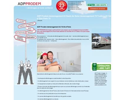 ADP Prodem demenagement 92 Hauts de...