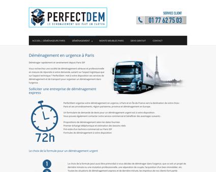 Déménagement Urgent |PerfectDem