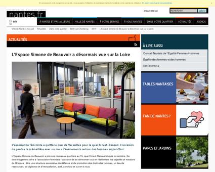 LEspace Simone de Beauvoir a désormais vue...