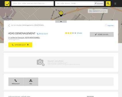 ADAS DEMENAGEMENT Montfermeil (adresse,...