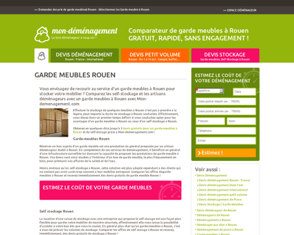 Stockage de meubles à Rouen - Garde-meuble...