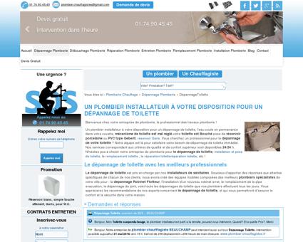 Dépannage toilette devis, tarif : prix dépannage...