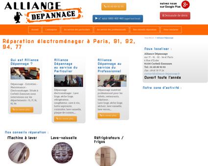 Réparation électroménager Paris, 91, 92, 94, 77 ...