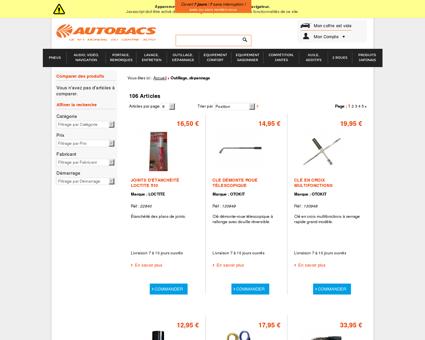 Outillage, dépannage - Autobacs  Accessoires...