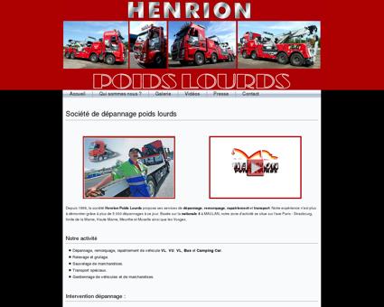 Société de dépannage poids lourds - Henrion...