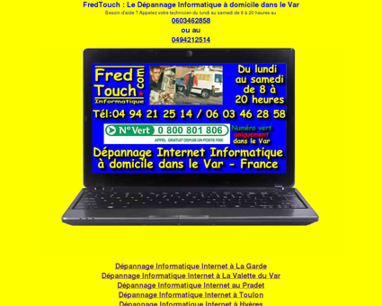 Bienvenue sur FredTouch.com Dépannage...
