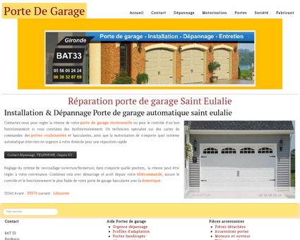 Porte de garage Sainte Eulalie