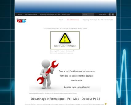 Site en Maintenance  Dépannage...