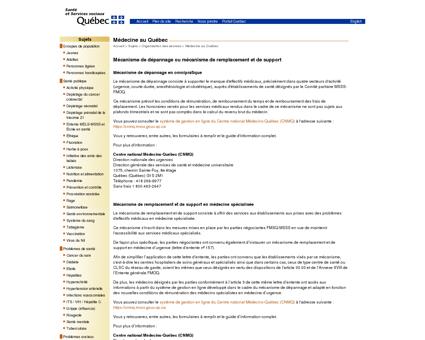 MSSS - Sujets - Organisation des services -...