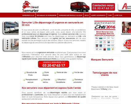 Direct Serrurier Lille - Dépannage de serrurerie...