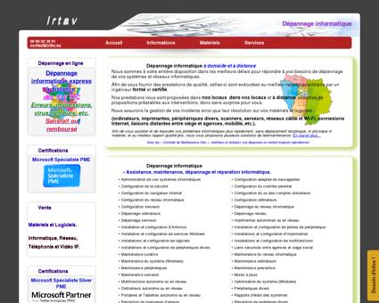 Irtav | Dépannage informatique