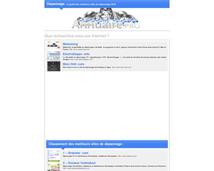 Depannage : Le guide des meilleurs sites de...