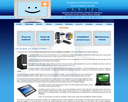 Dépannage PC portable Nord 59, installation...