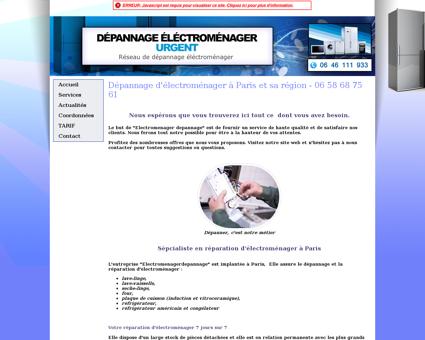 Dépannage Électroménager - Paris & Région -...