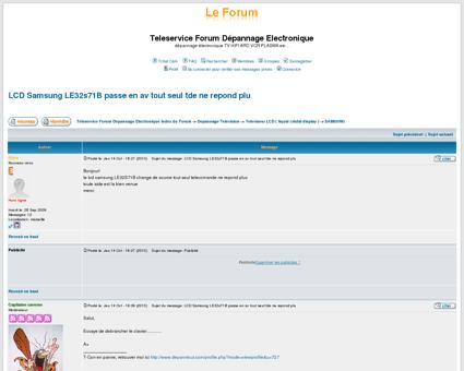 Teleservice Forum Dépannage Electronique ::...