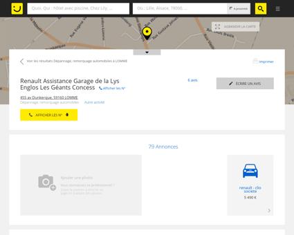 Renault Assistance Garage de la Lys Englos Les...