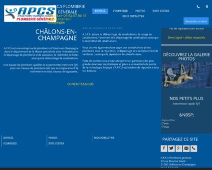Dépannage de plomberie à Châlons-en...