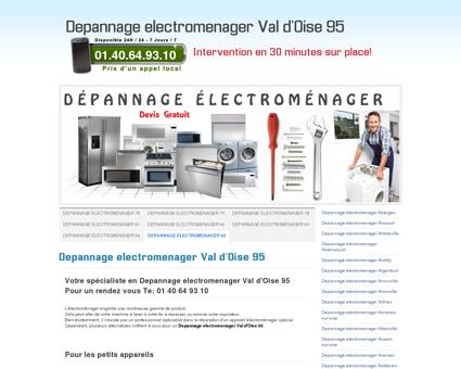Depannage electromenager Val d'Oise 95 Tel:...