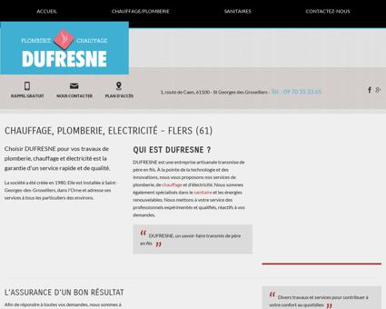 Chauffage Flers - DUFRESNE SARL : plomberie,...