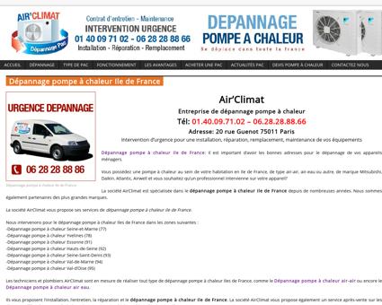 Dépannage pompe à chaleur Ile de France |...