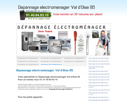 Depannage electromenager Val d'Oise 95 Tel:...