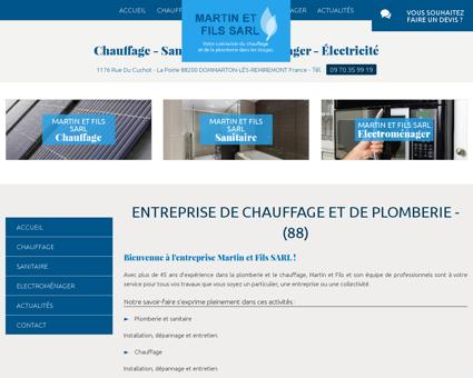 Chauffage Remiremont - SARL MARTIN ET FILS...