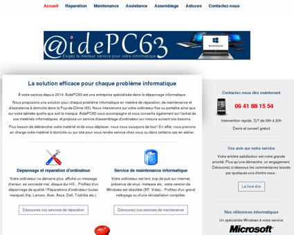 Dépannage informatique dans le Puy-de-dôme...