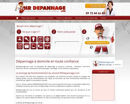 Dépannage à domicile : Mr Dépannage.com