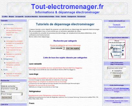 Tout-electromenager.fr -Tutoriels depannage-