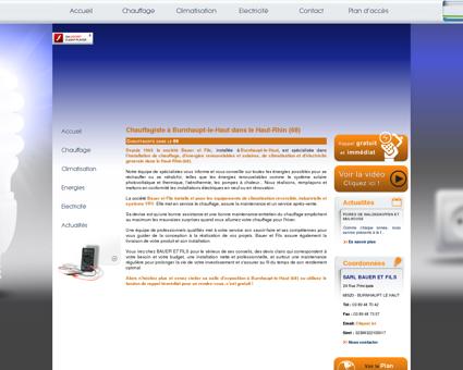 Dépannage chauffage  Cernay | SARL Bauer Et...