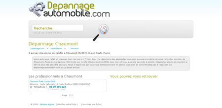 Depannage automobile CHAUMONT