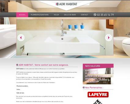 ADR Habitat : entreprise de plomberie située à...