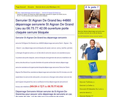Serrurier St-Aignan-De-Grand lieu...