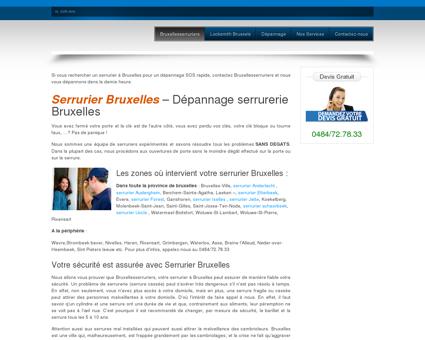 Serrurier Bruxelles  Dépannage serrurerie...