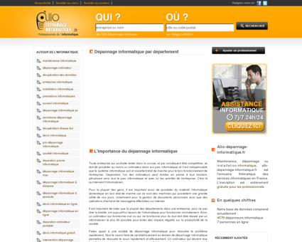 Dépannage informatique - Annuaire des...